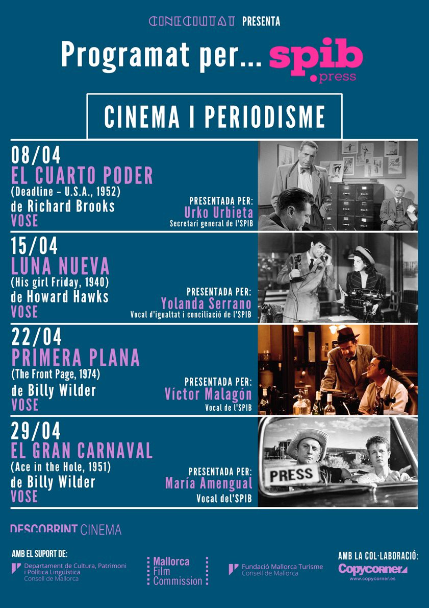 cartel cicle cinema i periodisme
