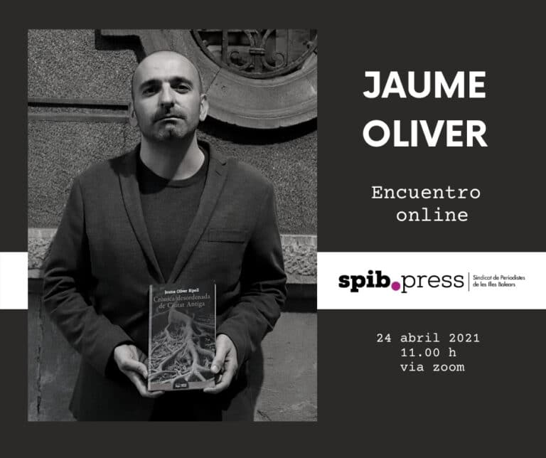 """Jaume Oliver: """"El periodismo me ha dado las herramientas, los recursos, para hacer literatura"""""""